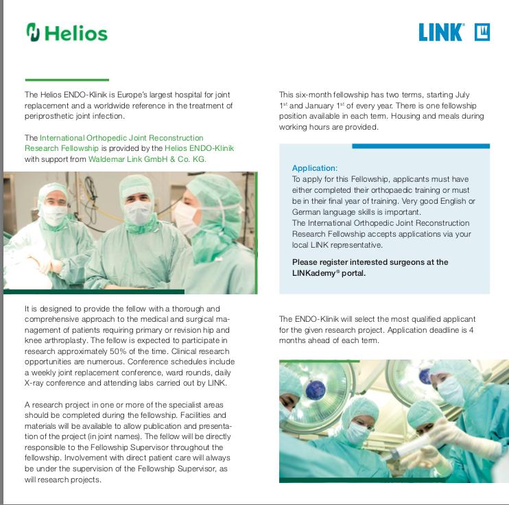 LINK fellowship- July 2019 - East of England Trauma and Orthopaedics